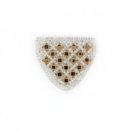 Diamond shoulder-pad iron-on applique - light brown