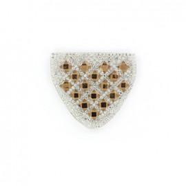 Thermocollant épaulette Diamant brun