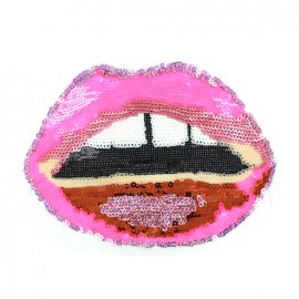 ♥ Lips Sew-on applique - pink ♥