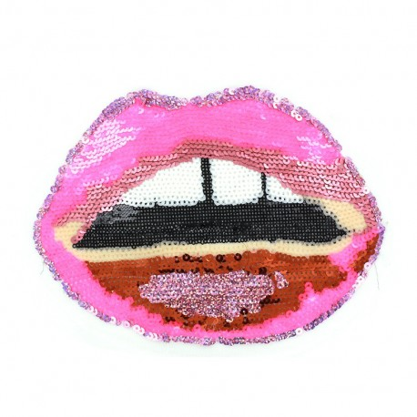 Lips Sew-on applique - pink