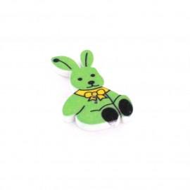 Bouton bois Rabbit vert