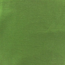 Knitted Jersey 1/1 tubular edging fabric - green x 10cm