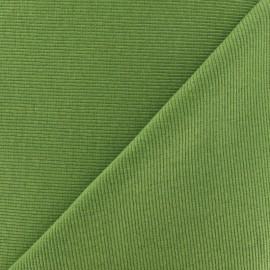 Tissu jersey tubulaire bord-côte 1/2 amande x 10cm