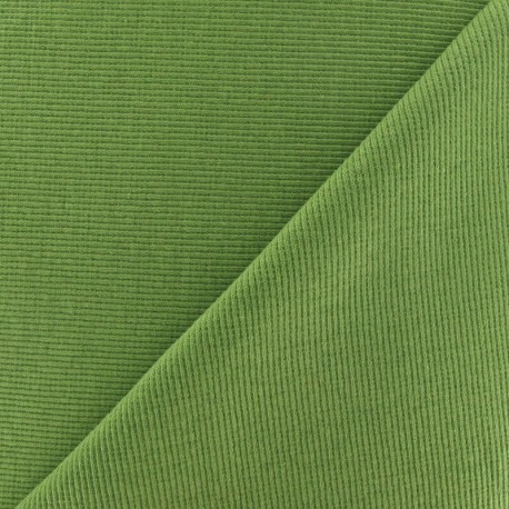 Knitted Jersey 1/2 tubular edging fabric x 10 cm - almond