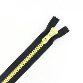 Synthetic two-tone Closed bottom zipper - black/vanilla