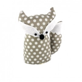 Fox pincushion Little white polka dots - grege