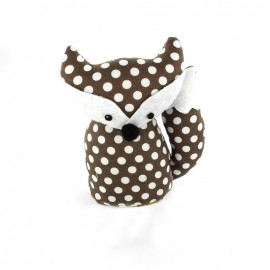 Fox pincushion Little white polka dots - brown