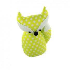 Fox pincushion Little white dots - lime