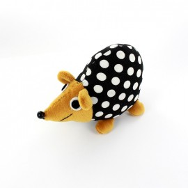 Raccoon pincushion Little white polka dots - black