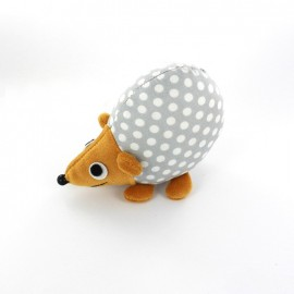 Raccoon pincushion Little white polka dots - light grey