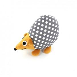 Raccoon pincushion Little white dots - grey