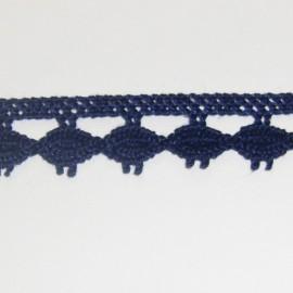 Dentelle coton marine 10 mm