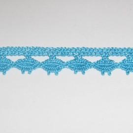 Dentelle coton turquoise 10 mm
