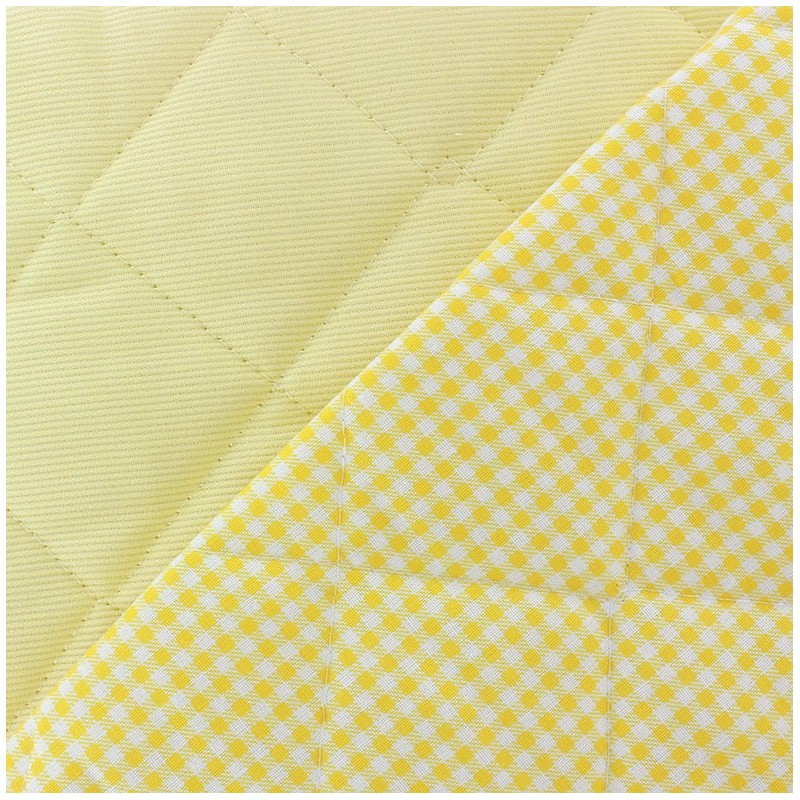 Baby quilted cotton stitched fabric yellow x 10cm ma for Yellow baby fabric
