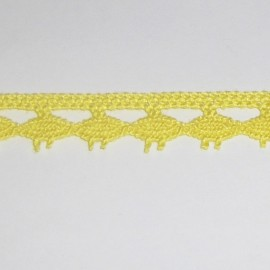 Cotton lace 10 mm - yellow