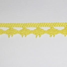 Dentelle coton jaune 10 mm