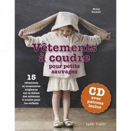 """Book """"Vêtements à coudre pour petits sauvages"""" + CD avec patrons inclus"""