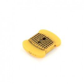 Polyester button Bobbin - yellow