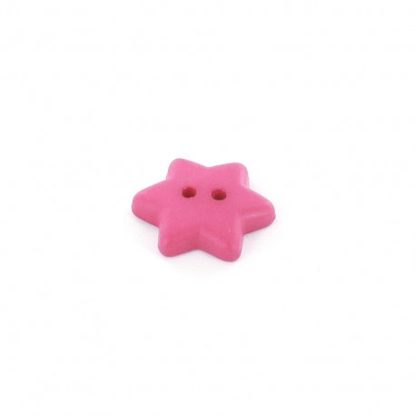 Polyester button Star - fuchsia