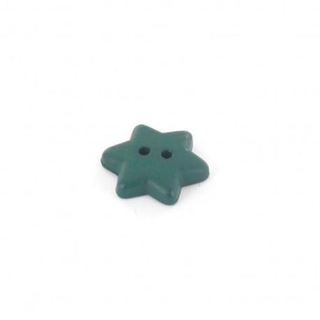 Bouton polyester Star vert