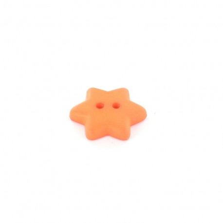 Polyester button Star - orange