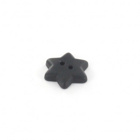 Polyester button Star - black