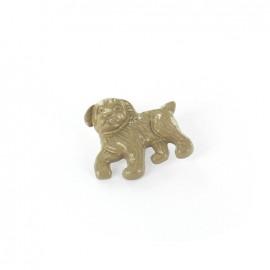 Bouton métal Dog beige