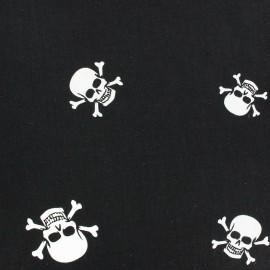 Tissu popeline Hamlet blanc sur fond noir x 10cm