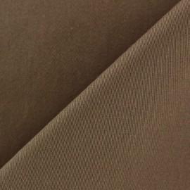 Tissu Gabardine Lycra mat brun x 10cm