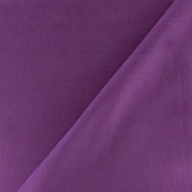 Tissu voile de coton violine x 10cm