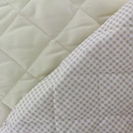 ♥ Coupon 160 cm X 150 cm ♥ Tissu piqué de coton baby matelassé Sahara