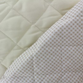 Baby Quilted Cotton Stitched Fabric - Sahara x 10cm