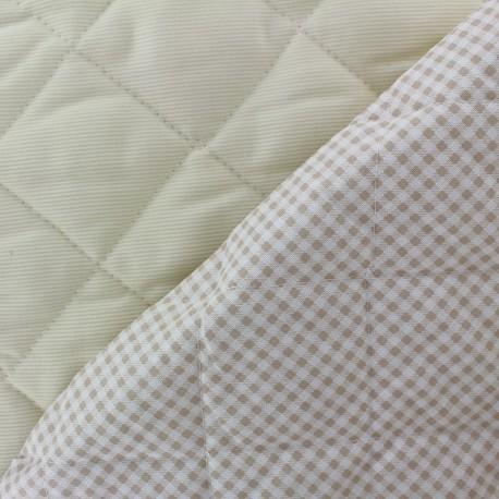Tissu piqué de coton baby matelassé Sahara x 10cm