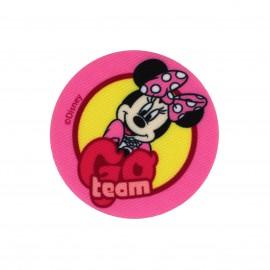 Canvas Iron-on patch  Minnie Go team - pink