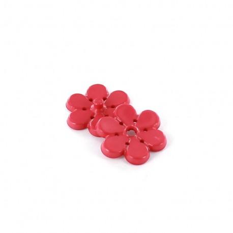 Snap button Blossom - fushia