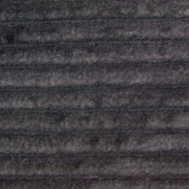 Thick ribbed velvet fabric - brown x 10cm
