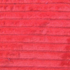 Thick ribbed velvet fabric - red x 10cm