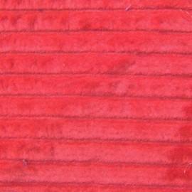 velours grosses côtes rouge