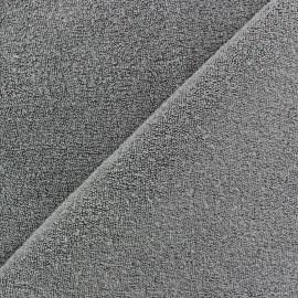 Tissu éponge jersey grège x 10cm