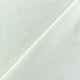 Tissu éponge jersey écru x 10cm