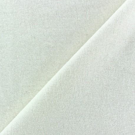 Fabric toweling jersey greige x 10cm