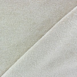 Jersey towel fabric - Light sand x 10cm