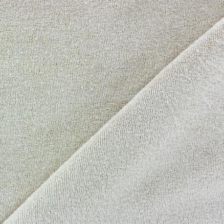 Tissu éponge jersey Sable clair x 10cm