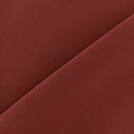 Tissu crêpe brique x 10cm