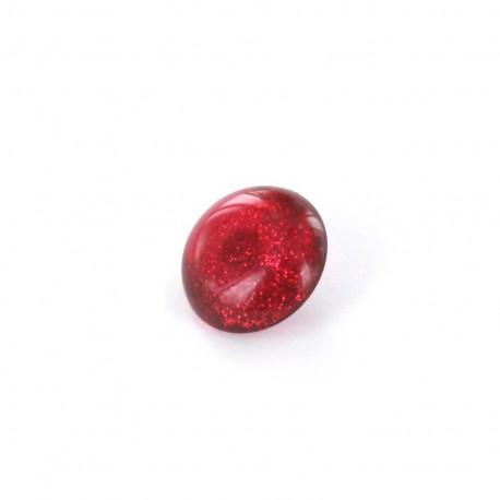 Polyester Button glitter - garnet
