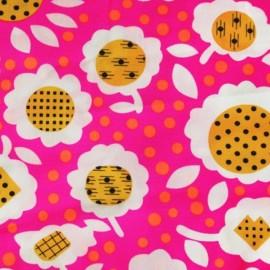 Tissu coton Pilipili rose x 10cm