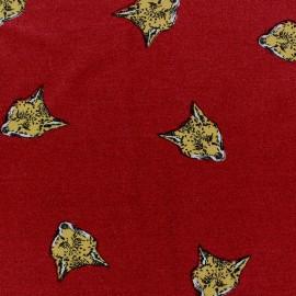 Viscose Fox Jersey Fabric - Dark Red  x 10cm