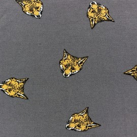 Viscose Fox Jersey Fabric - Grey  x 10cm