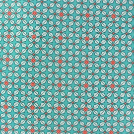 Cotton fabric orange blossom red
