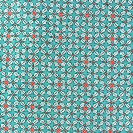 Tissu coton helium azur x 10cm